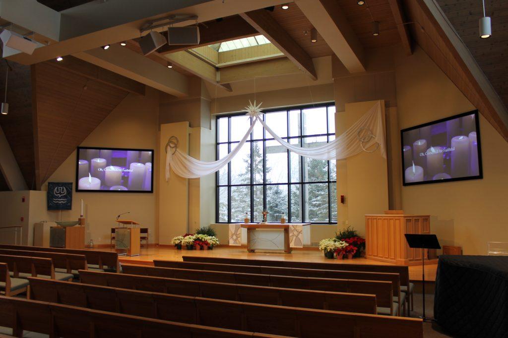 Trinity Lutheran Slate Projection Screens