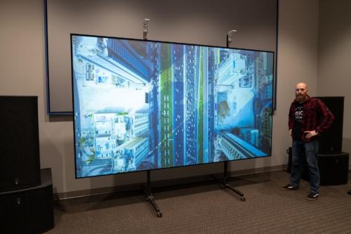 150-inch Black Diamond Projection Screen