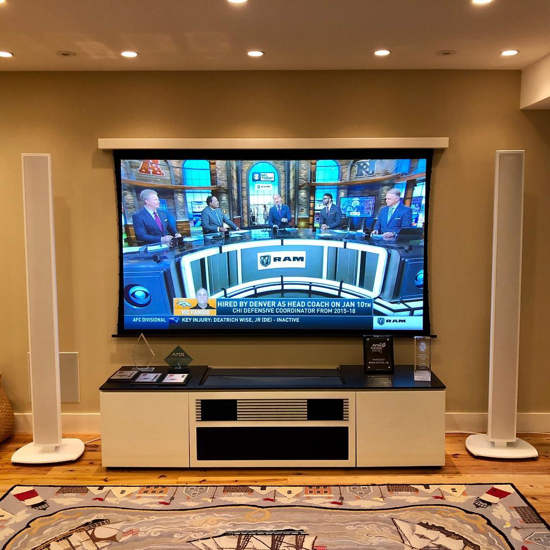 "110"" Solo Pro with Short Throw optic - Nantucket Media Systems"