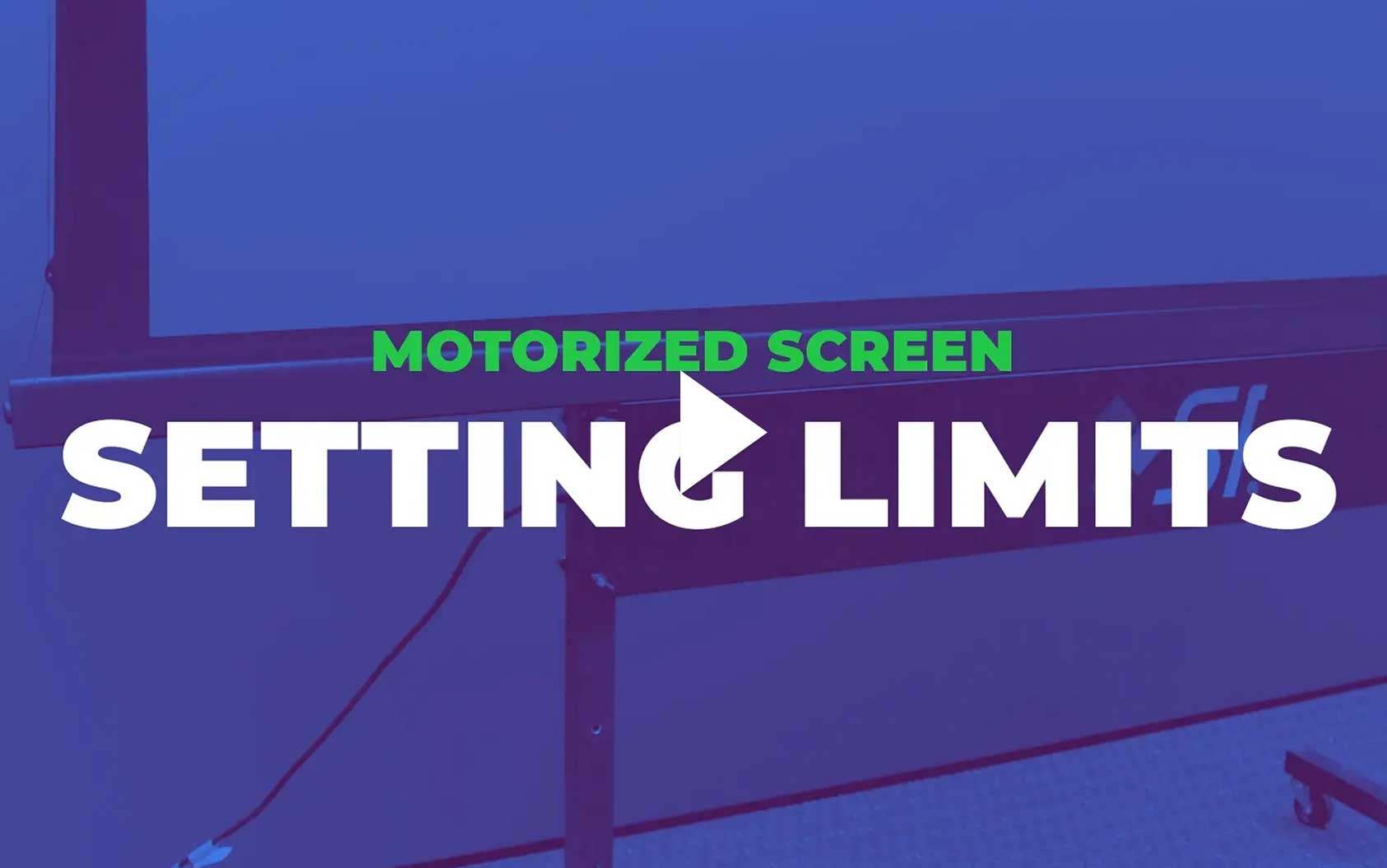 3 & 5 Series Motorized - How to Set Limits