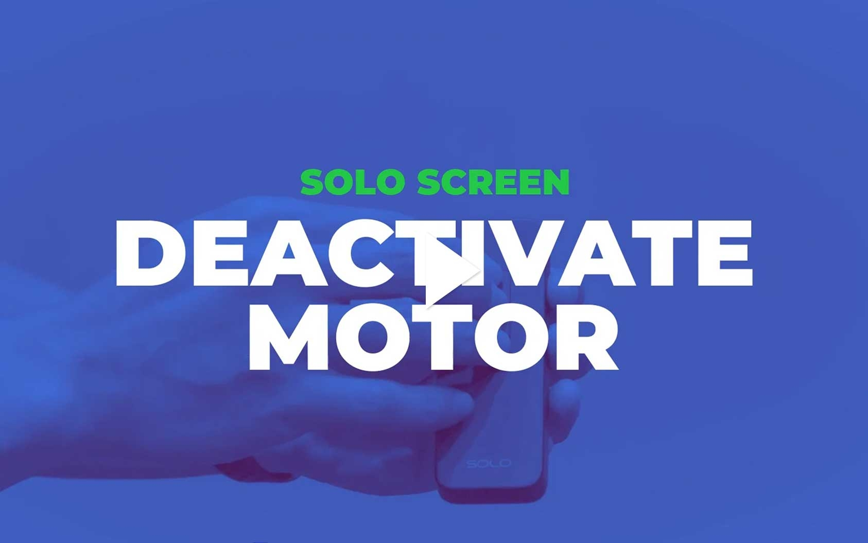 Solo - How to Deactivate the Motor