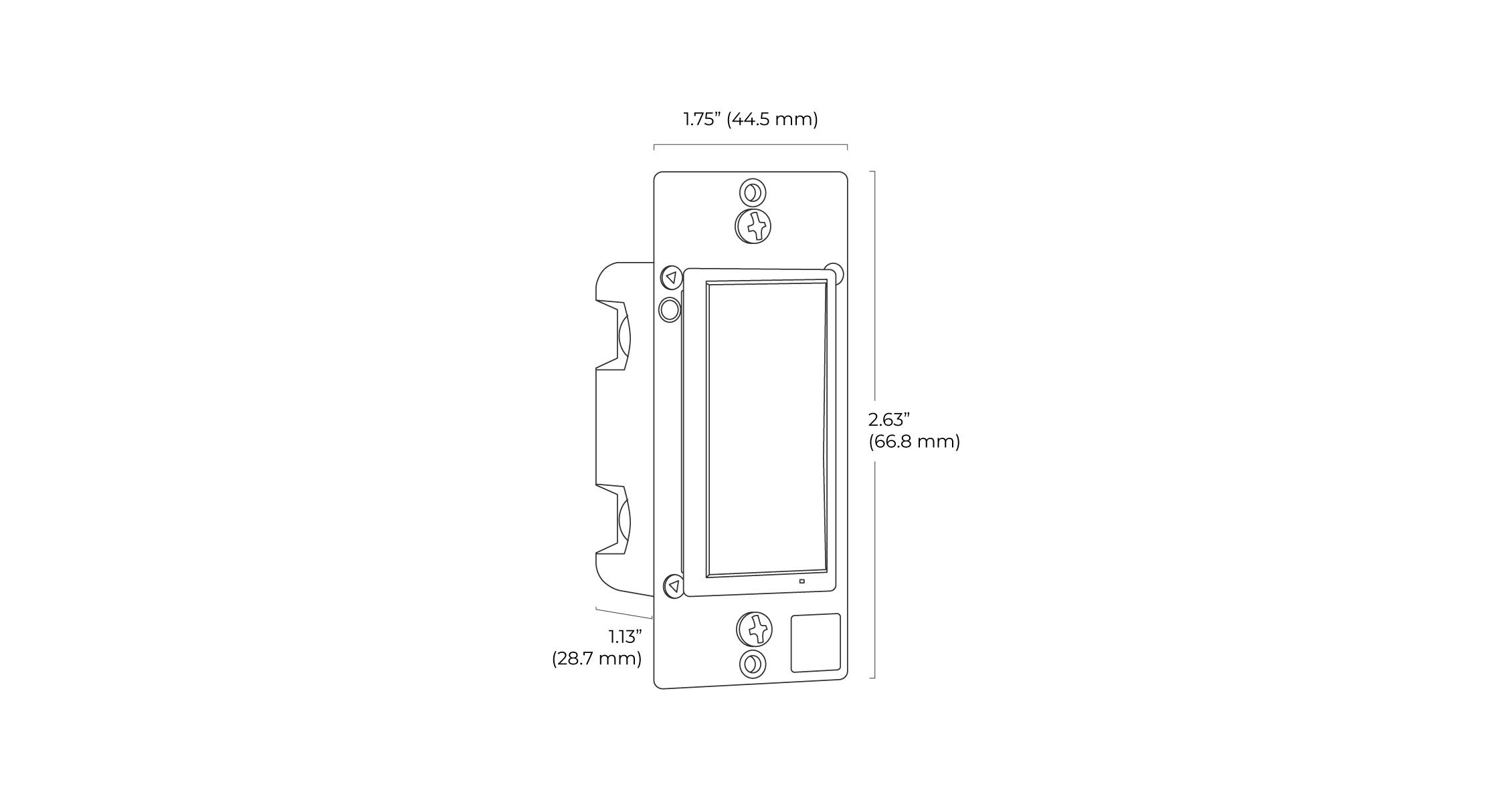 Smart Light Switch Spec Drawing