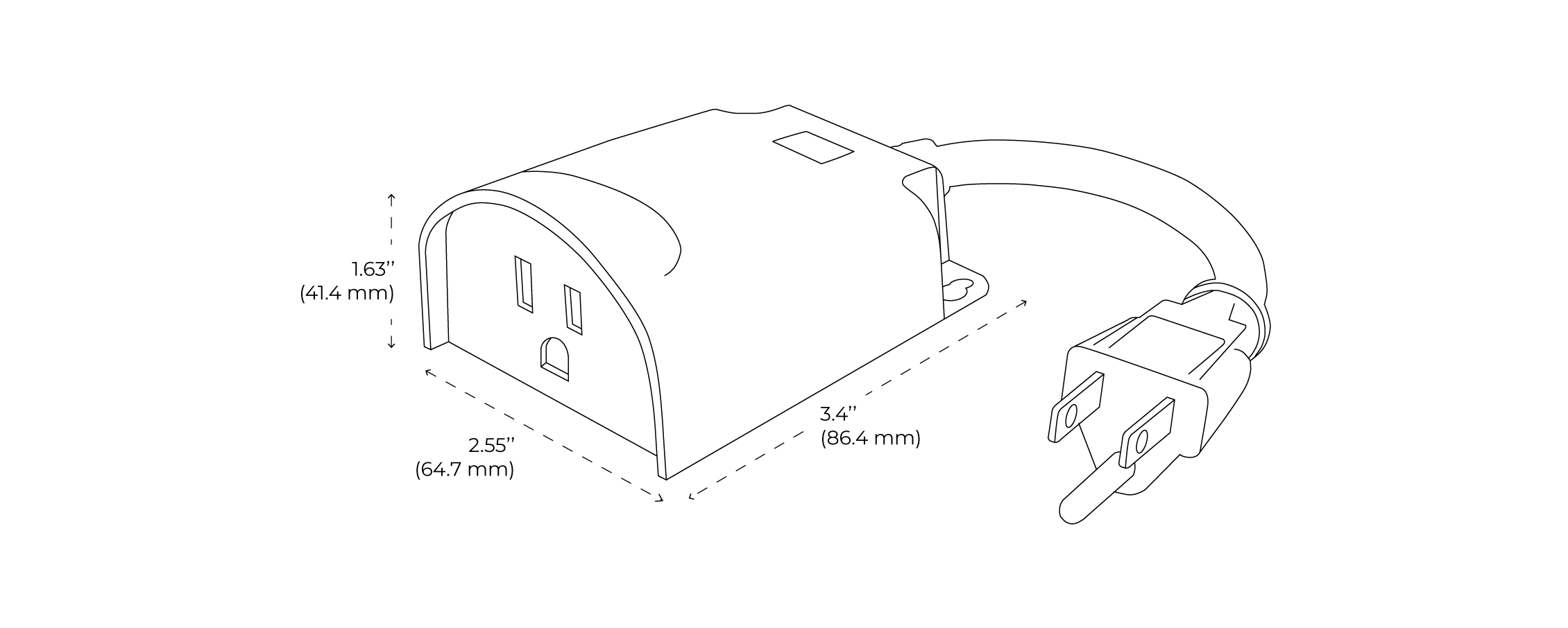 Smart Outdoor Plug Spec Drawing