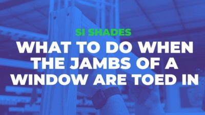 What to Do when the Jambs of a Window are Toed In