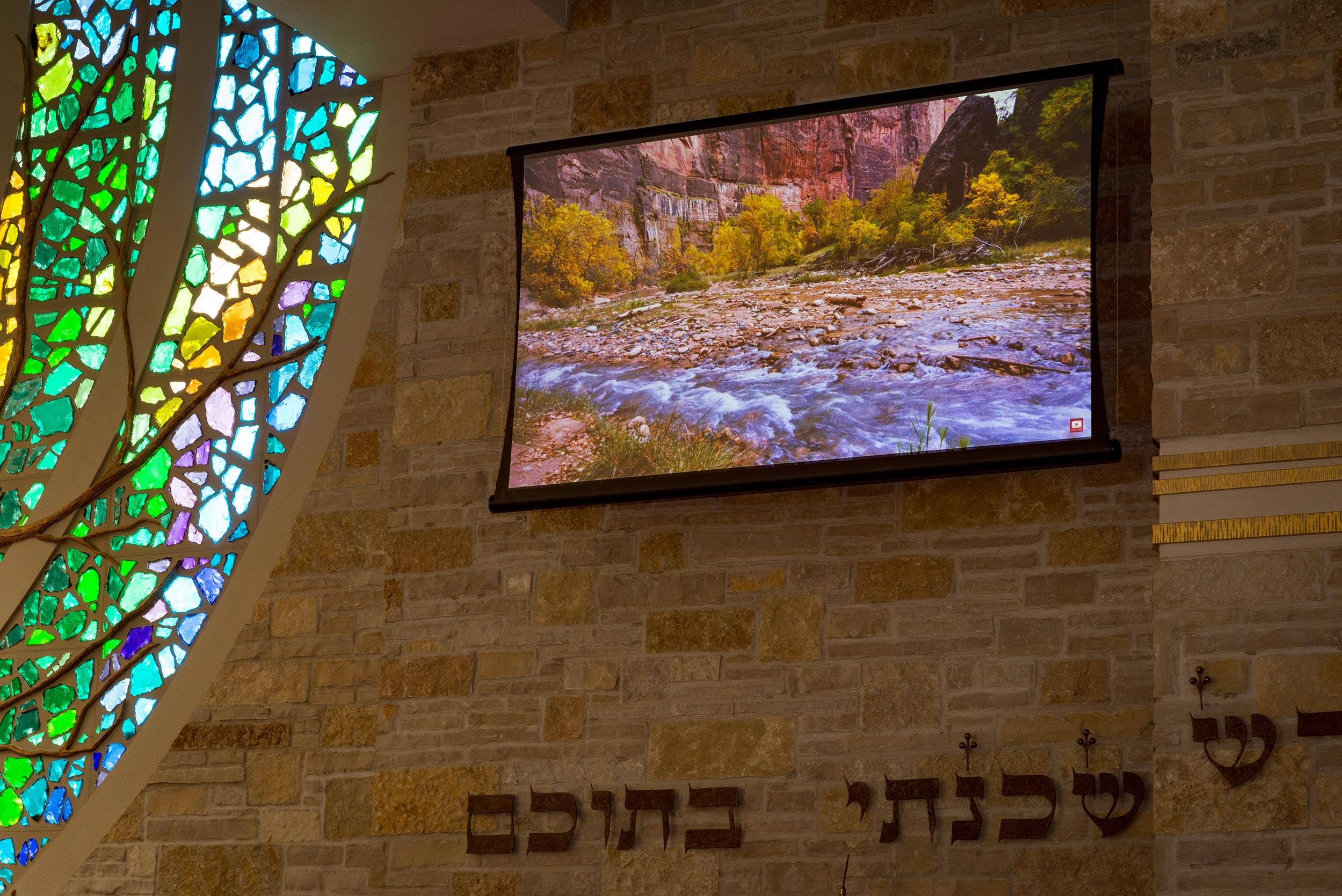 Congregation Shalom Zero-G Screen Closeup