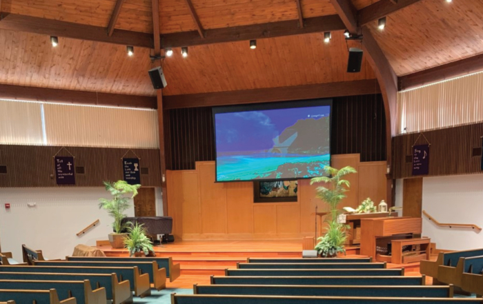 Commercial Motorized Projection Screen