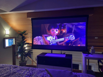 Gordon VanZuiden's Airbnb Featuring SI Motorized Projection Screen